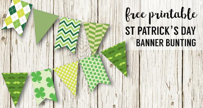 DIY St. Patrick\'s Day Decorations Printable Banner - Paper Trail Design