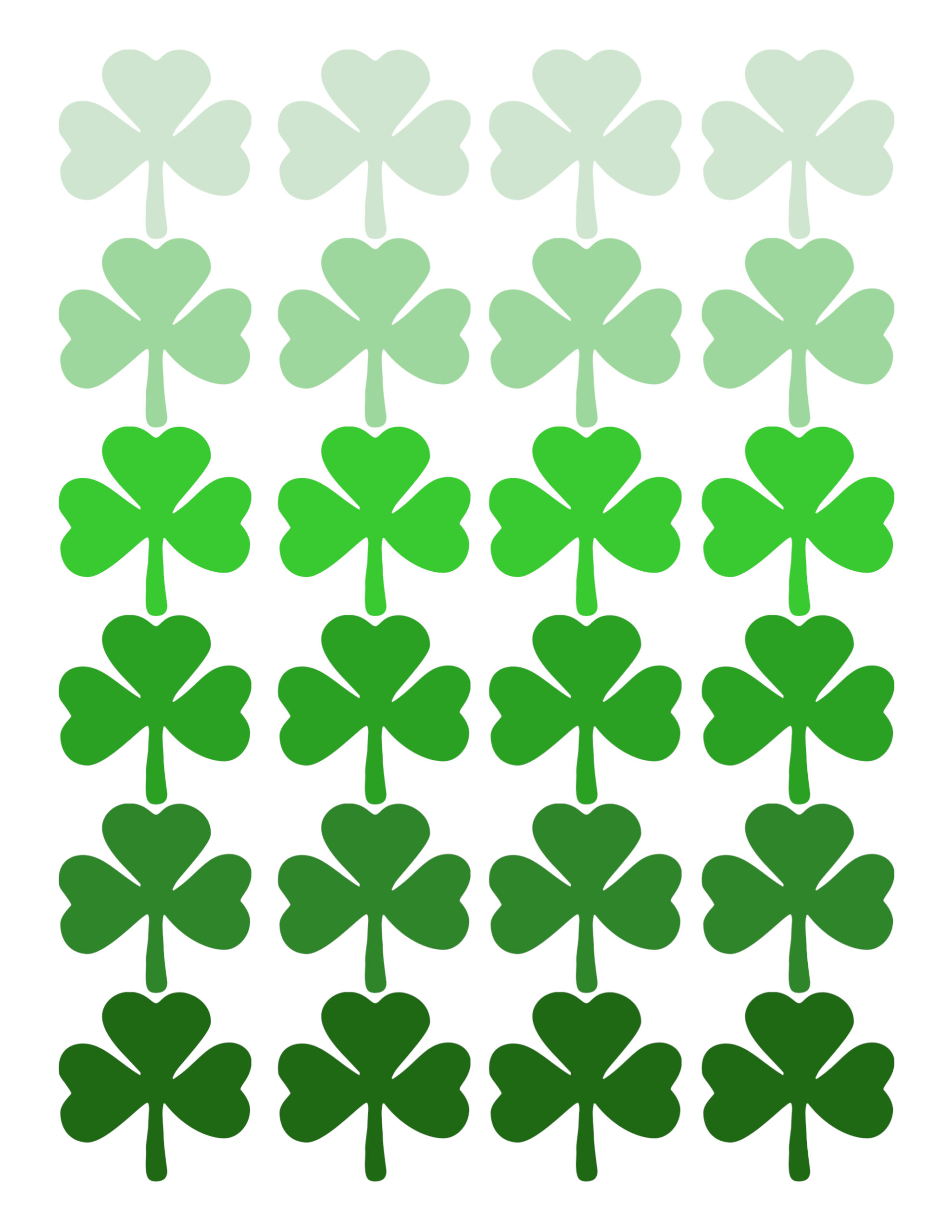 Shamrock Pattern Printable St Patrick S Day Decor