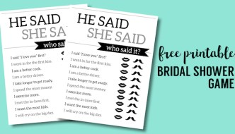 Free Printable Wedding Shower Games {He Said She Said}