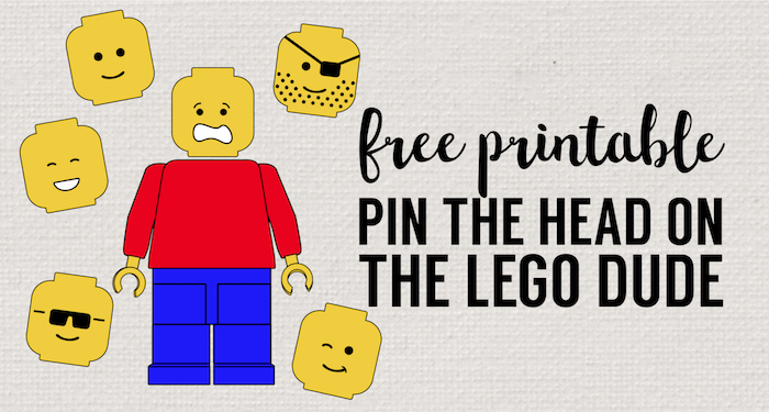 Pin the Head on the Lego Man Party Game Free Printable - Paper Trail ...