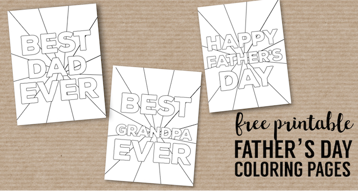 Happy Father\'s Day Coloring Pages Free Printables - Paper Trail Design
