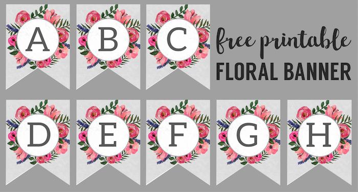Floral Alphabet Banner Letters Free Printable - Paper ...