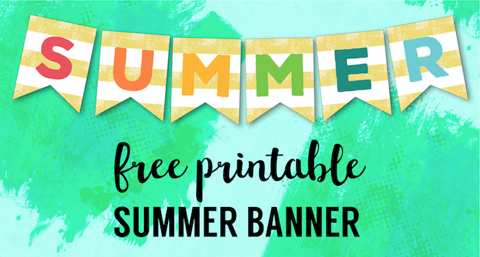 Free Printable Summer Banner Flags - Paper Trail Design