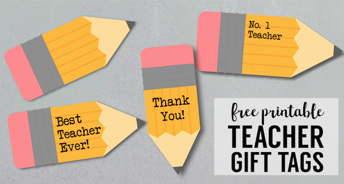 Free Printable Teacher Gift Tags {Pencil}