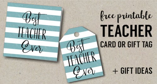 Free printable teacher gift tags pencil paper trail design best teacher ever card free printables gift tags for teacher appreciation gifts teacher gift negle Image collections
