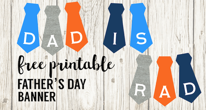 graphic regarding Happy Father's Day Banner Printable identify Cost-free Printable Fathers Working day Banner - Paper Path Design and style