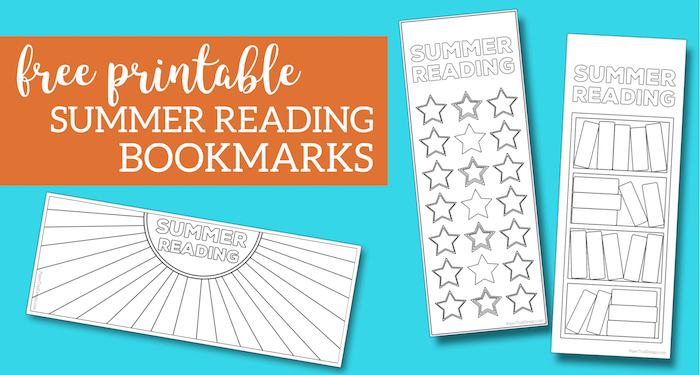 picture relating to Bookmarks Printable identified as Summer months Looking through Log Bookmark Printable Tracker - Paper Path