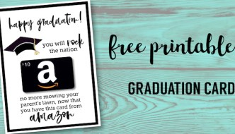Free Printable Graduation Card. Happy Graduation funny DIY card template. Free printable Amazon card gift card holder. High School graduation. #papertraildesign #graduation #graduationcard #graduationgift