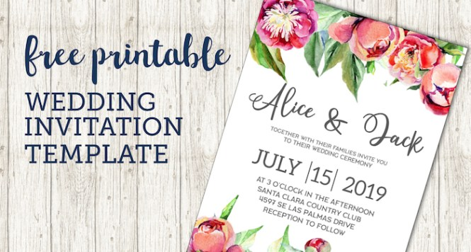 Wedding Invitation Template Fl