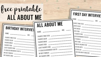 All About Me Printables {Interview Template}