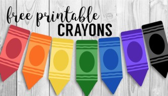 Free Printable Back to School Banner Crayons