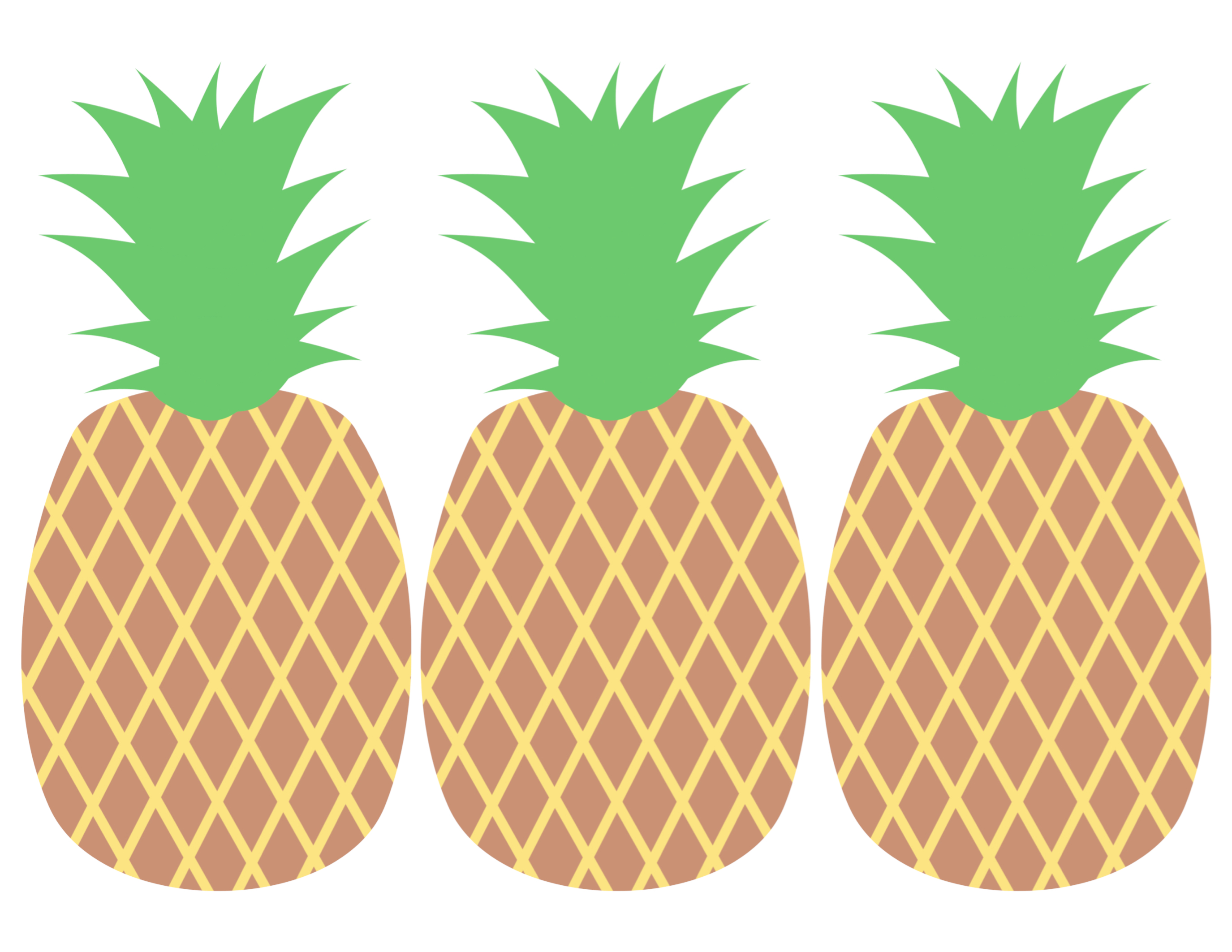Pineapple Party Banner Free Printable - Paper Trail Design