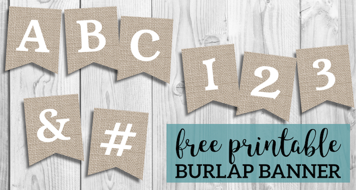 picture about Printable Thanksgiving Banners identify Cost-free Printable Burlap Banner Do it yourself Decor - Paper Path Structure