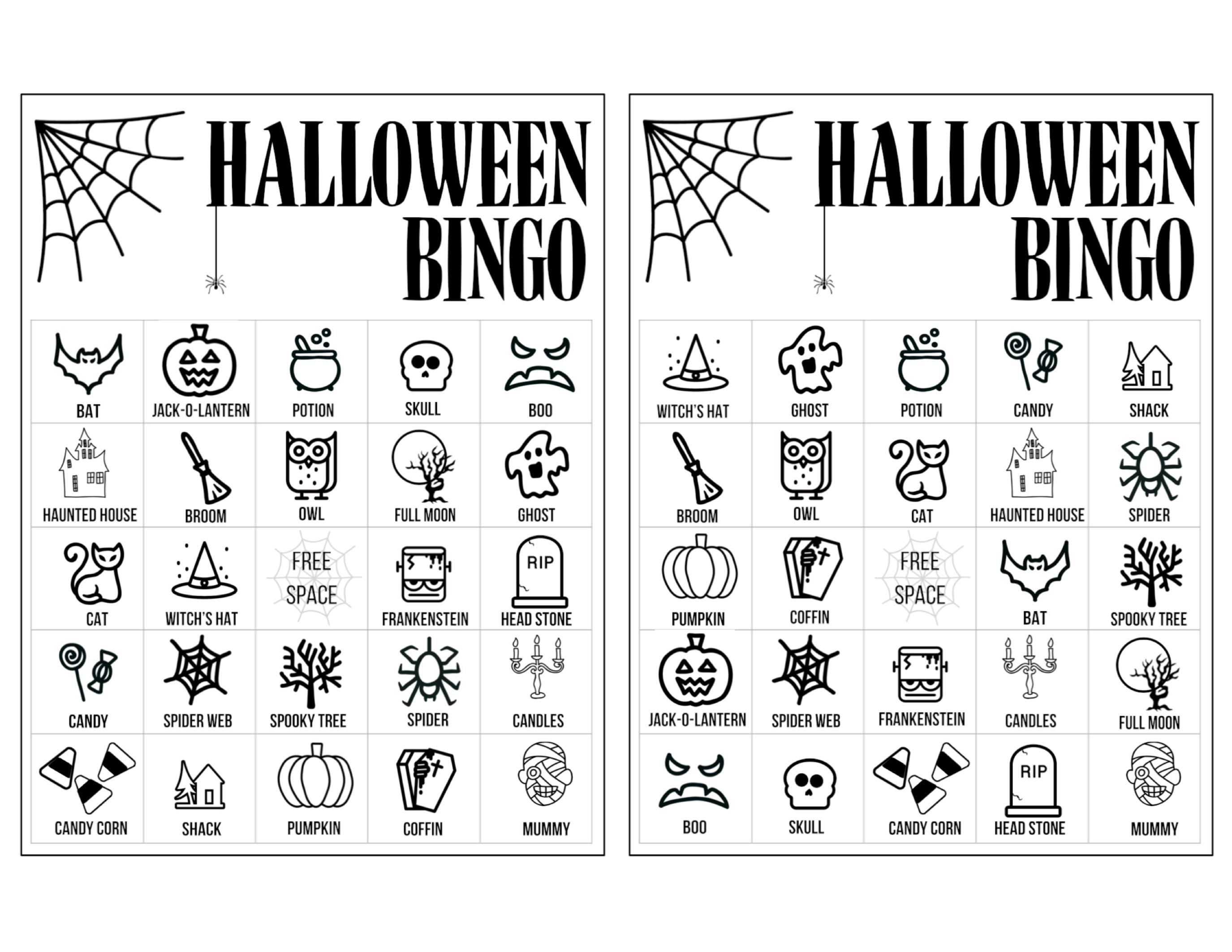 easy halloween activity halloween bingo printable game cards template fun kids halloween party game