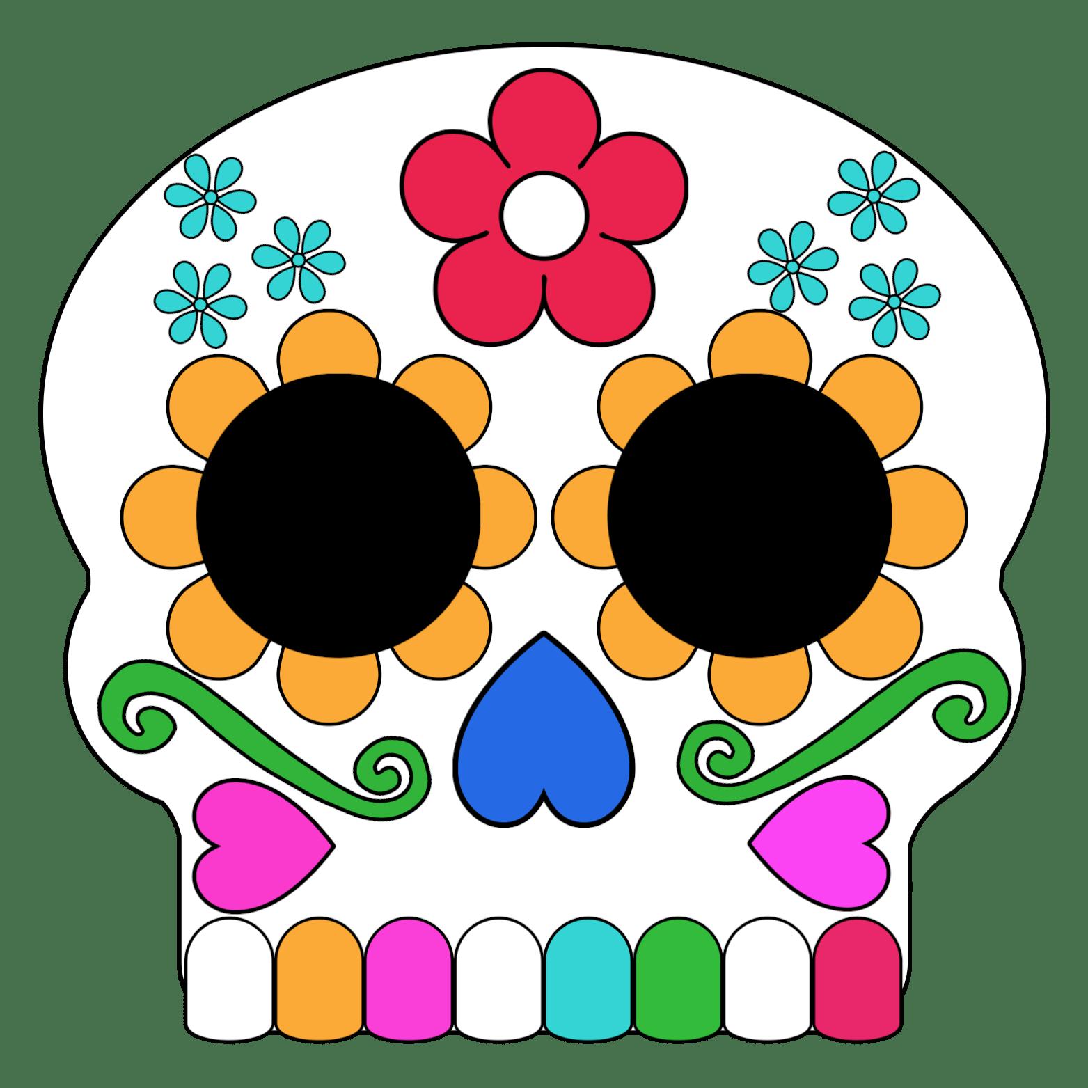 Day Of The Dead Masks Sugar Skulls Free Printable Paper Trail Design