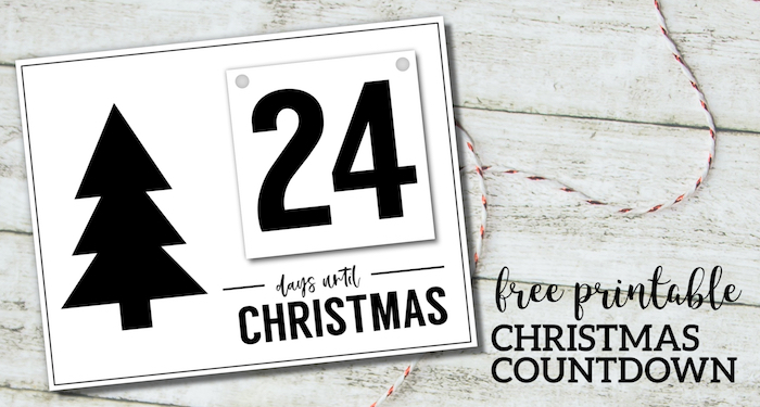 Free Printable Days Until Christmas Countdown. Advent calendar records how many days until Christmas. Easy DIY Christmas advent board. #papertraildesign #Christmas #Christmasadvent #Christmasadventcalendar #Christmascountdown