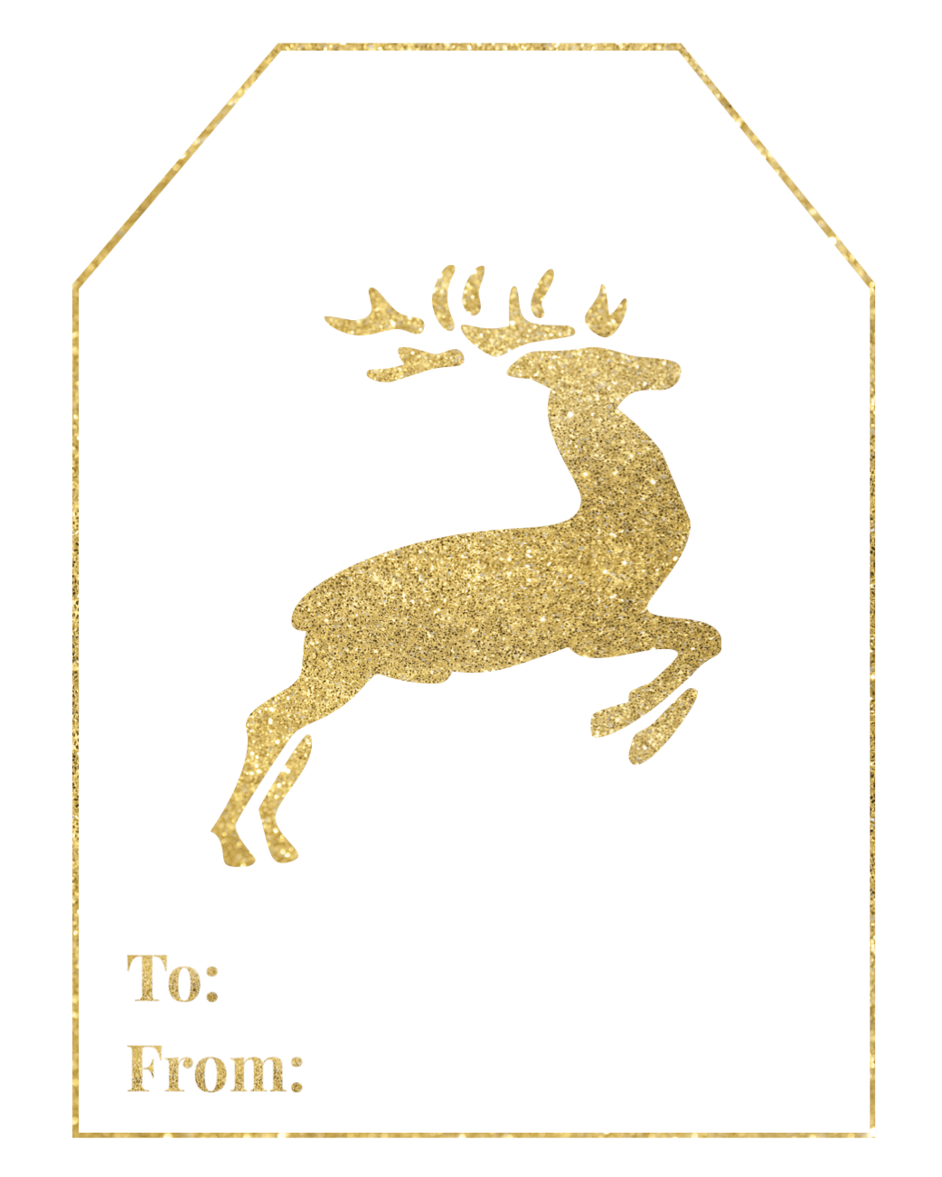 Gold Free Printable Christmas To From Tags