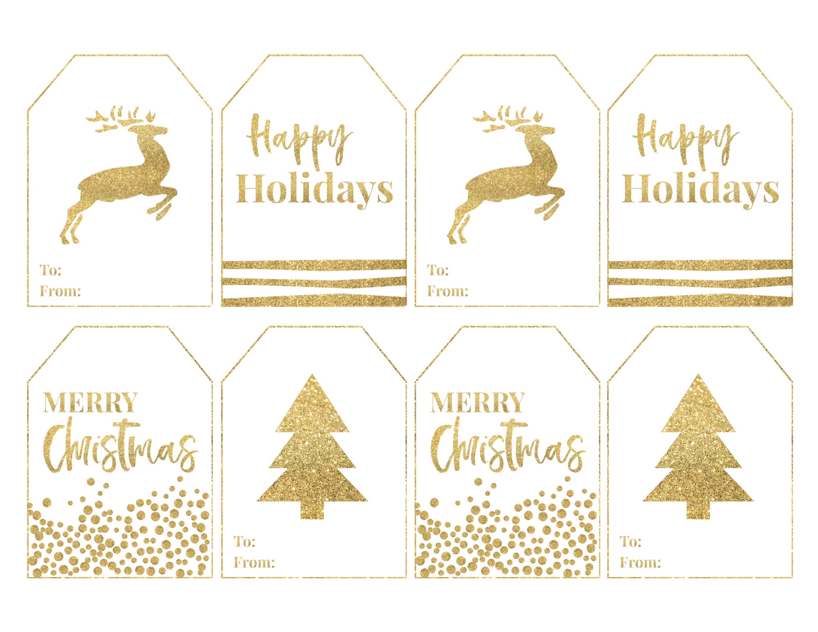 Free printable large christmas gift tags