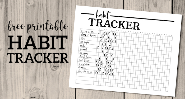 photo relating to Free Printable Habit Tracker named Behavior Tracker Printable Planner Template - Paper Path Style and design