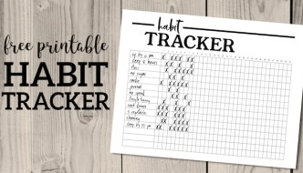Habit Tracker Printable Planner Template