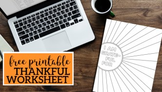 I Am Thankful for Worksheet Free Printable