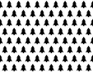 Free Printable Christmas Wrapping Paper. Black and white Christmas wrapping paper. Tree wrapping paper and Merry Christmas Seasons Greetings. #papertraildesign #Christmas #wrappingpaper #christmaswrapping