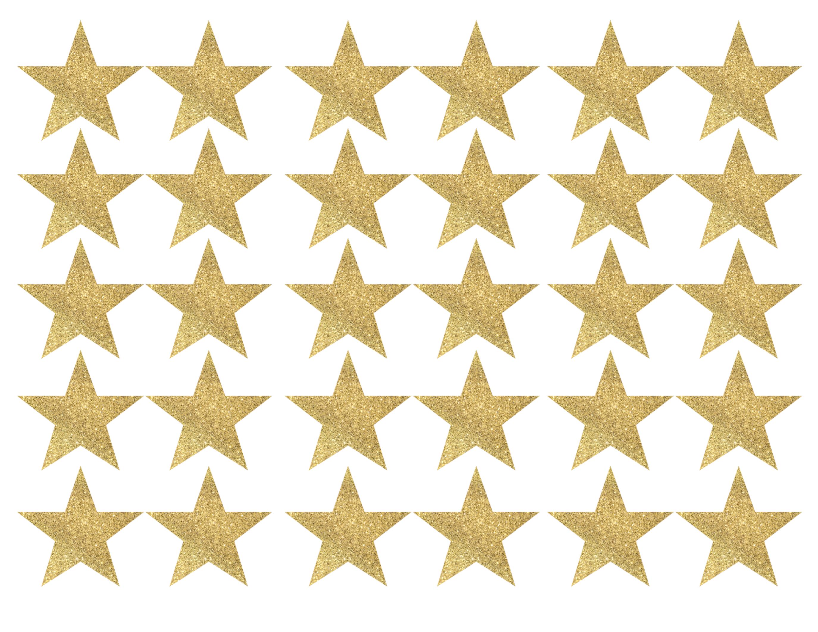 Gold Star Banner Christmas Garland Printable