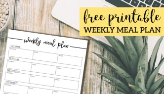 Free Printable Weekly Meal Plan Template. Meal planning template to keep you organized. Meal planner for breakfast, lunch and dinner. #papertraildesign #mealplanner #mealplan #mealplantemplate #printablemealplan