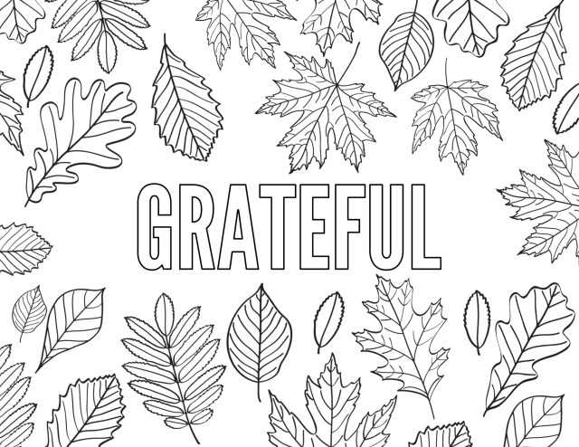 Thanksgiving Coloring Pages Free Printable - Paper Trail Design