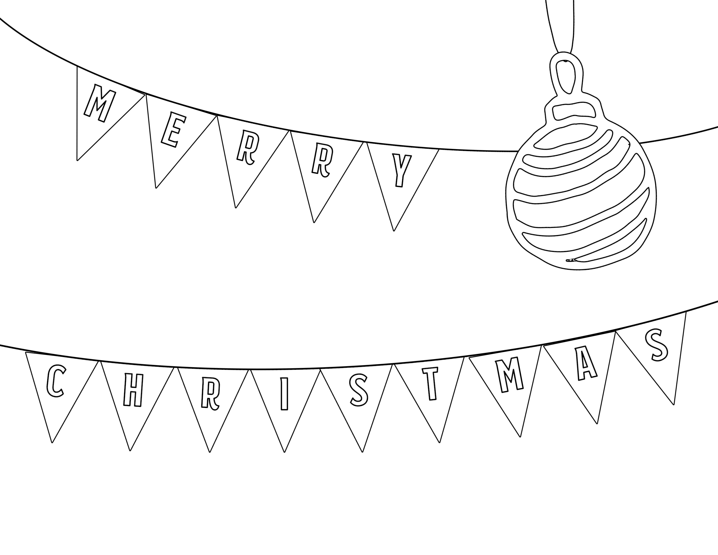 Click the following links to print the free printable christmas coloring pages