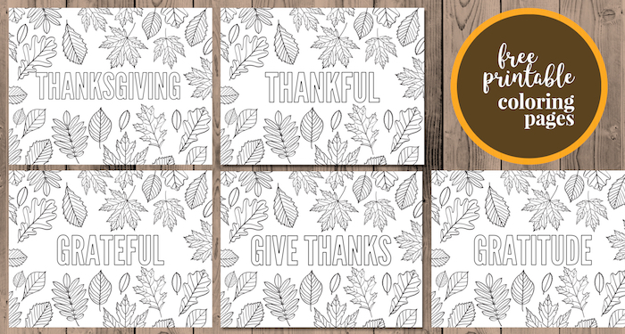 Thanksgiving Coloring Pages Free Printable Paper Trail Design