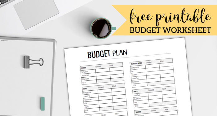 image about Printable Monthly Budget identified as Cost-free Printable Month-to-month Funds Worksheet - Paper Path Design and style