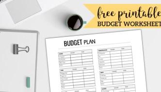 Free Printable Monthly Budget Worksheet. Household budget worksheets. Personal budgeting planner template. Family budget worksheet. #papertraildesign #budget #familybudget #personalbudget #householdbudget #freeprintables #budgetworksheet #finance #money #debt #getoutofdebt