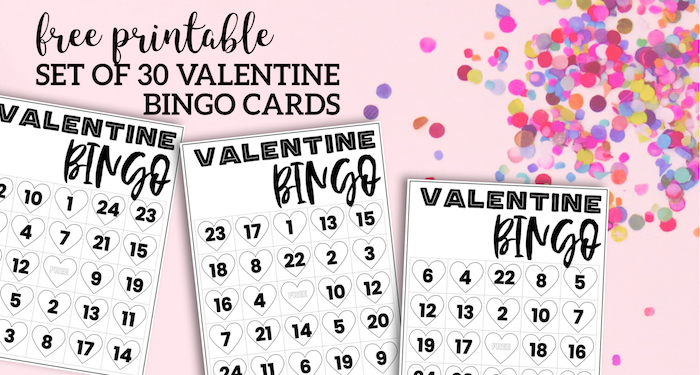 photo about Free Printable Bingo Cards With Numbers named Cost-free Valentine Bingo Printable Playing cards - Paper Path Style