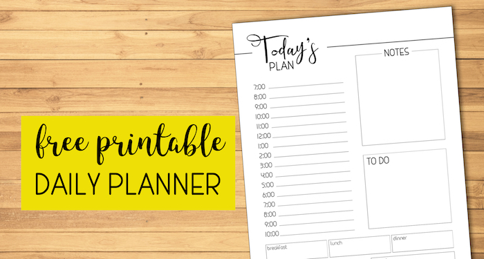 Free Printable Daily Planner Template - Paper Trail Design