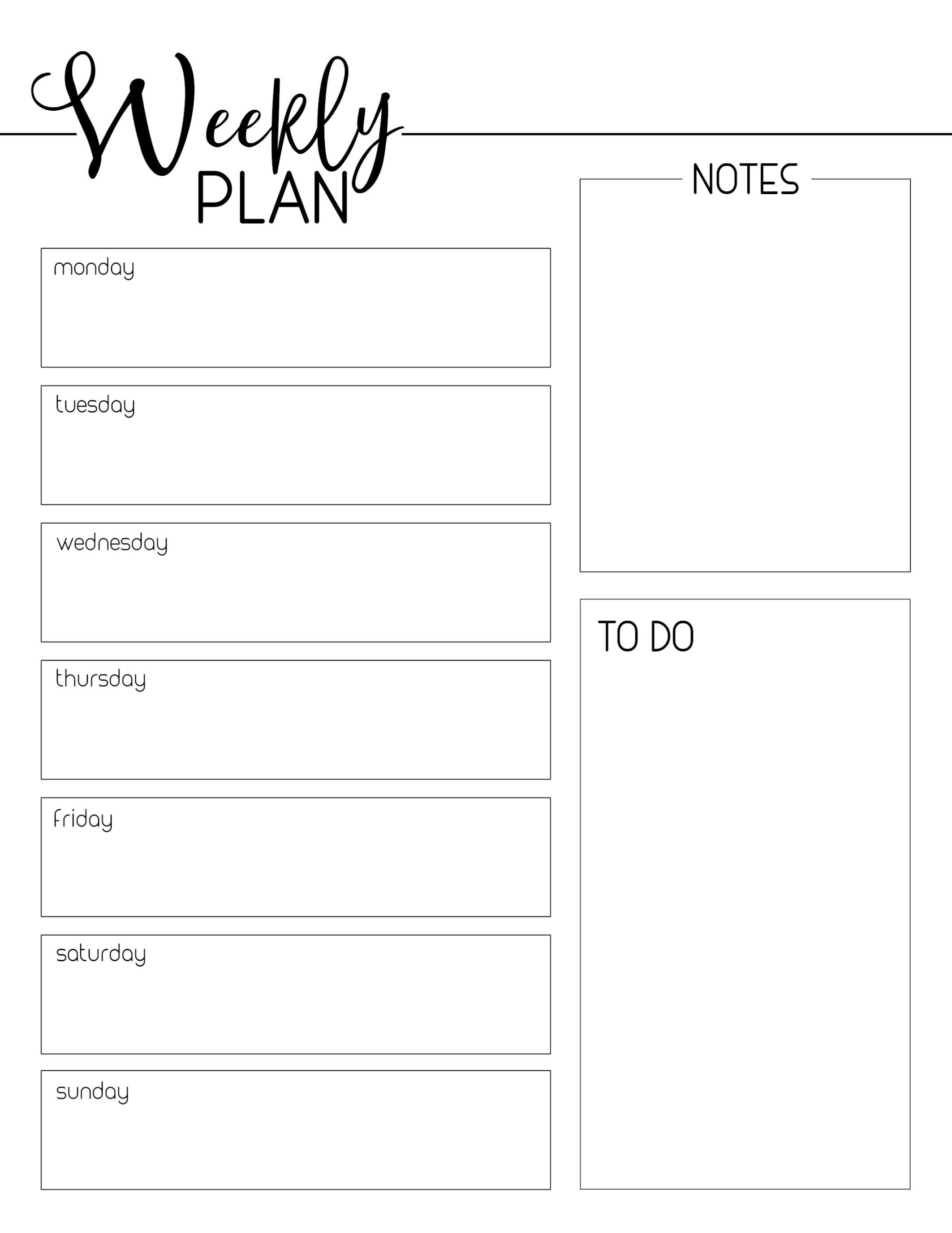photo about Weekly Planner Printables named Weekly Planner Template Cost-free Printable - Paper Path Design and style