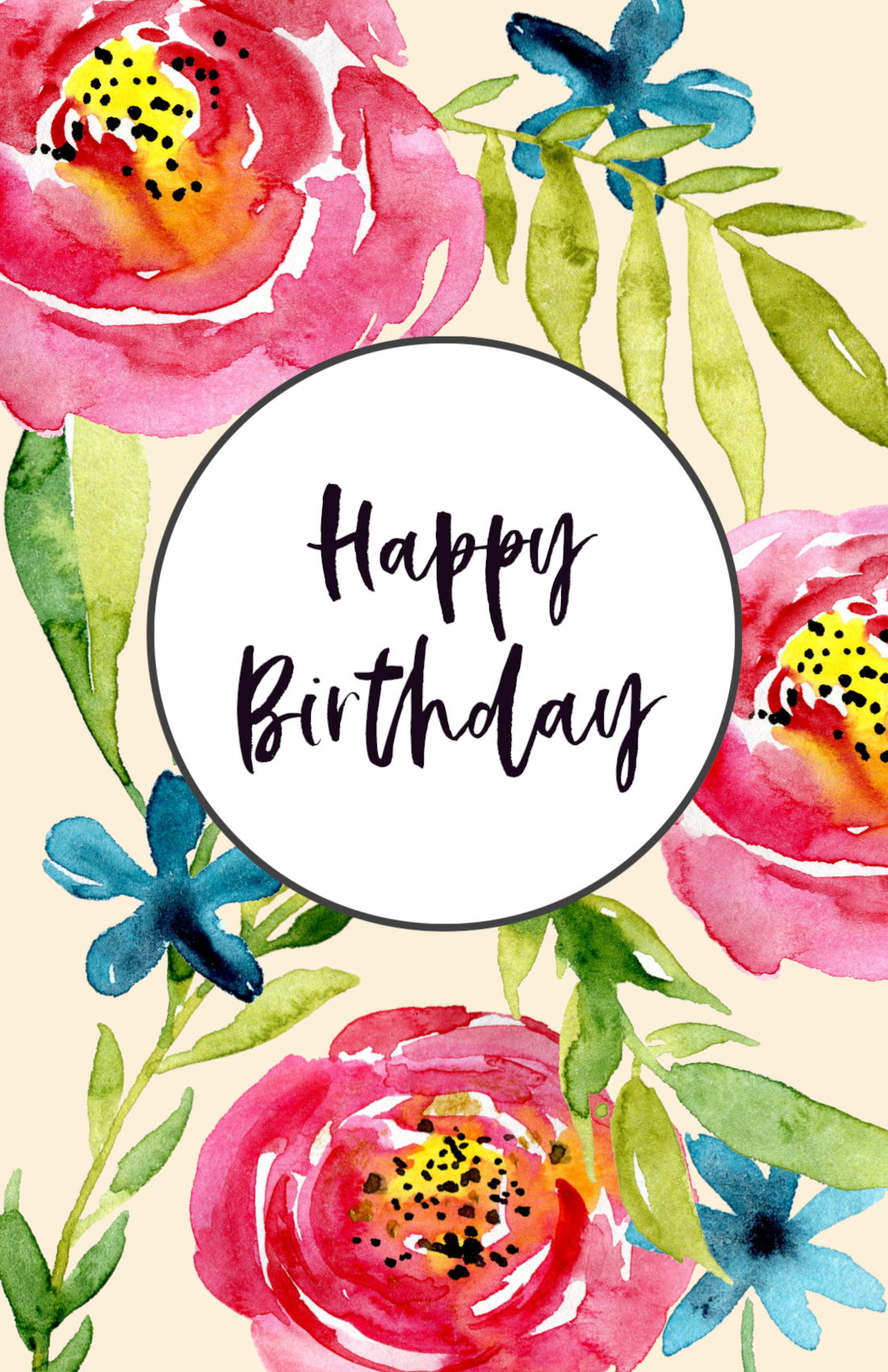 It is a photo of Mesmerizing Free Printable Bday Cards