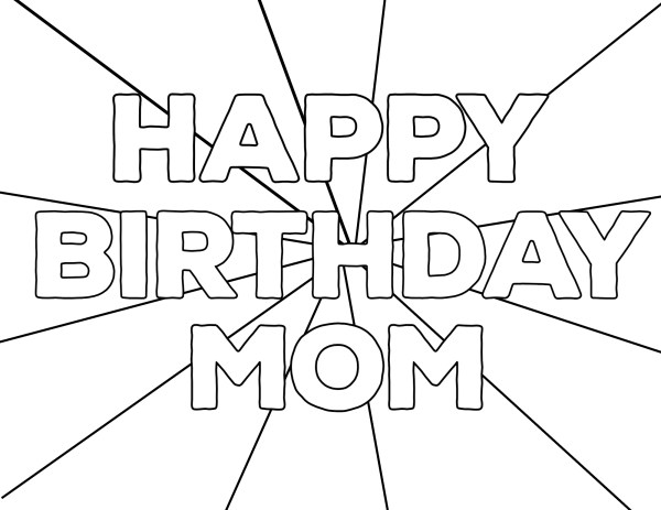 coloring pages happy birthday # 14