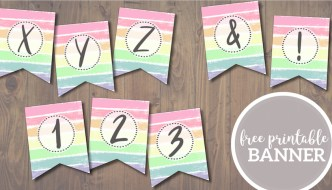 Free Printable Pastel Banner Letters. Customize a DIY happy Easter banner, happy birthday banner, spring banner, or unicorn party banner. #papertraildesign #easter #banenr #birthday #happybirthday #birthdaybanner #birthdaydecor #birthdaydecorations #easterdecor #easterbanner #easterdecorations #spring #springdecor #springdecorations #unicornparty #unicorn #unicorndecorations #unicorndecor #pastel #pastelbanner #pasteldecor #pasteldecorations