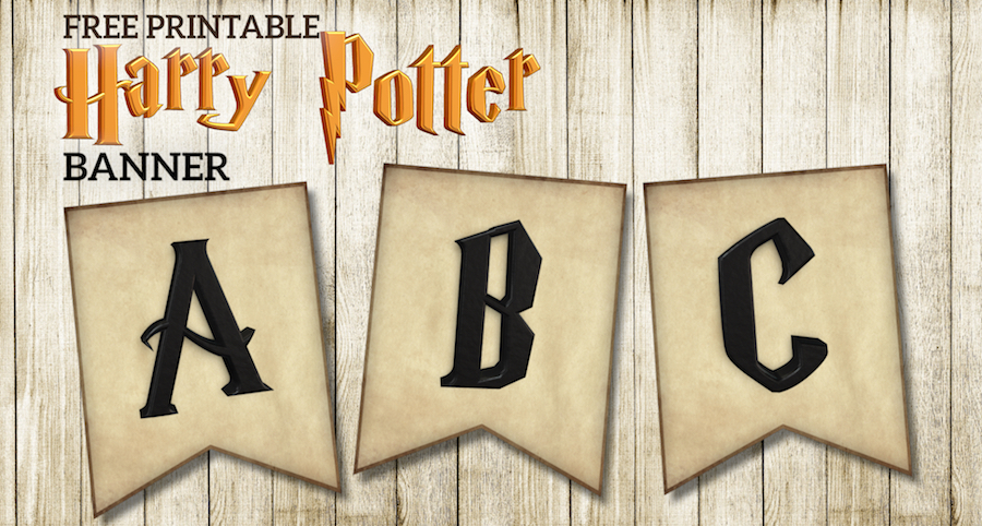 Free Printable Harry Potter Banner Letters Paper Trail Design