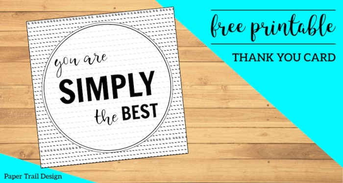 Simply the Best Printable Card. Thank you card for a teacher, coach, volunteer, parent, wedding guest, or for Mother's or Father's Day. #papertraildesign #simplythebest #thankyou #thanks #thankyoucard #teacher #teacherthankyou #coachthankyou #weddingthankyou