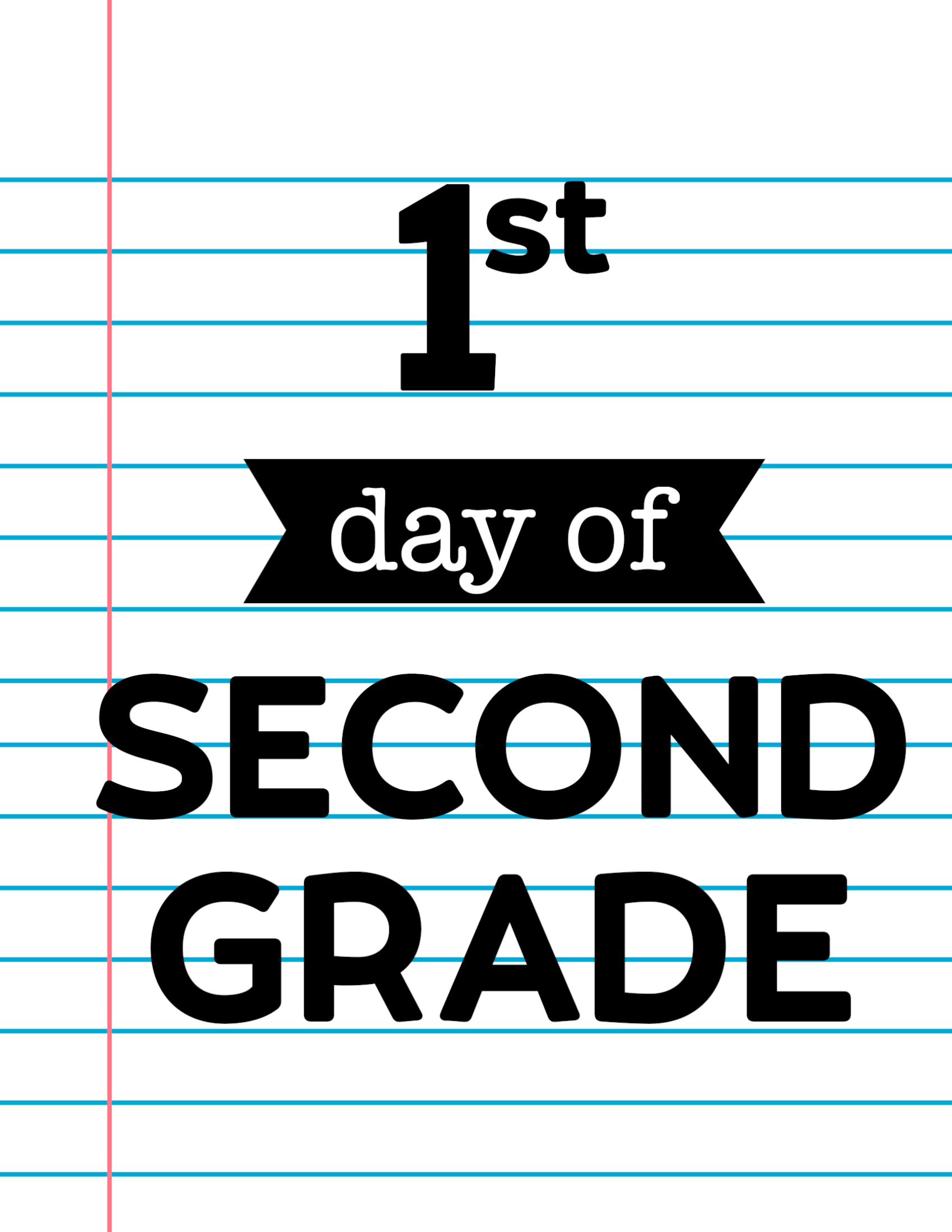 graphic about First Day of Second Grade Printable Sign identified as 1st Working day of College or university Indicators Laptop Paper - Paper Path Style and design