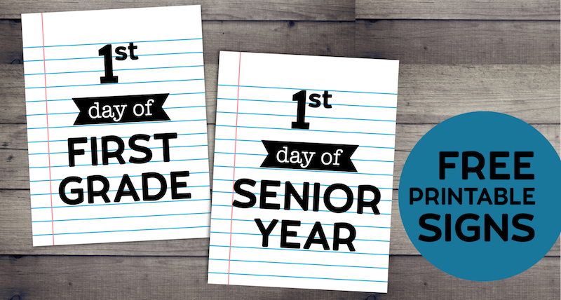 photograph about Free Printable Back to School Signs named Editable Very first Working day of College or university Signs or symptoms - Laptop computer Paper - Paper