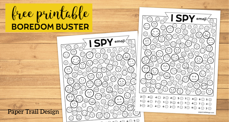 picture about Printable Emoji Games titled Absolutely free Printable I Spy Emoji Video game - Paper Path Style
