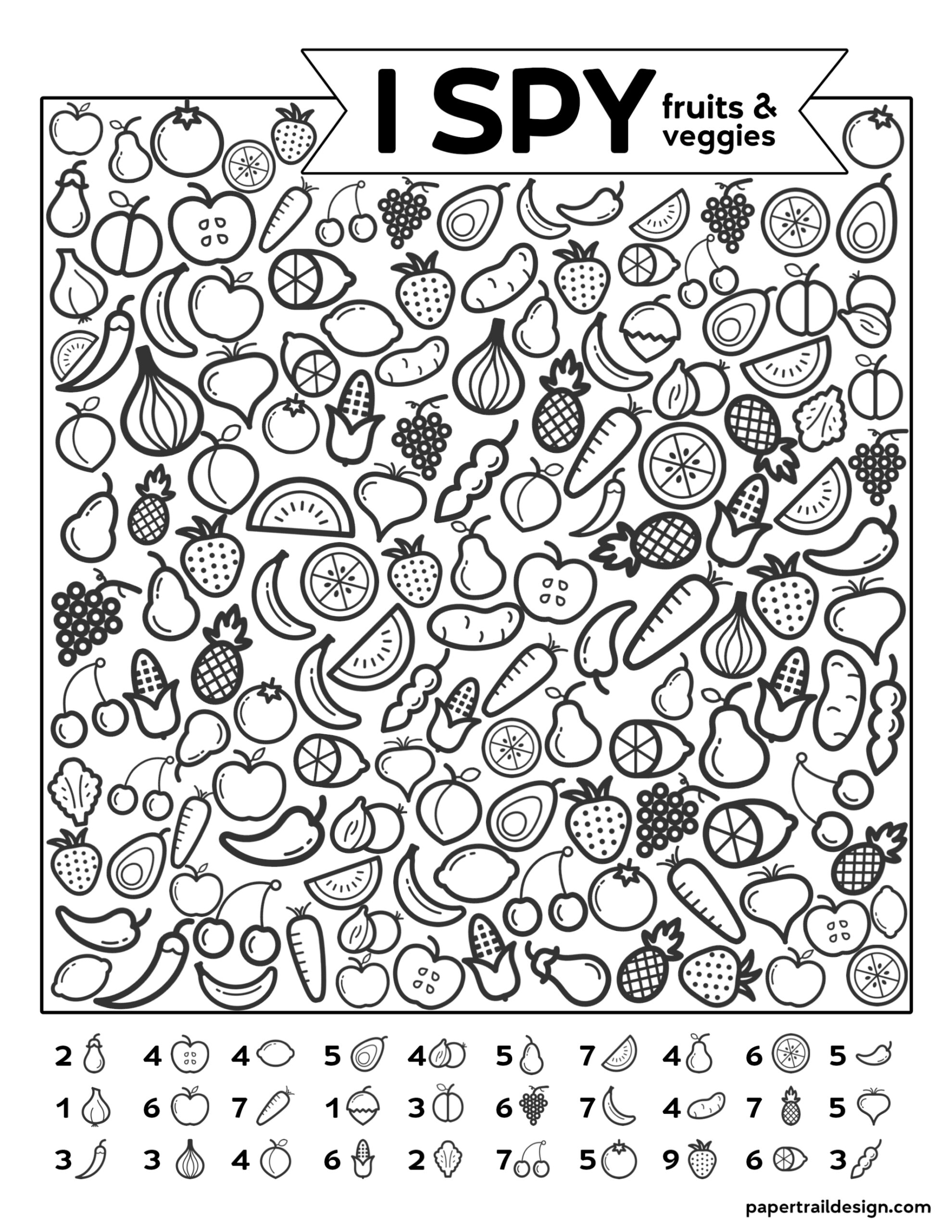 Free Printable I Spy Game