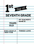 Fill-in-the-blank first day of seventh grade sign.