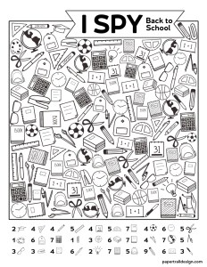 Back to school themed I spy game