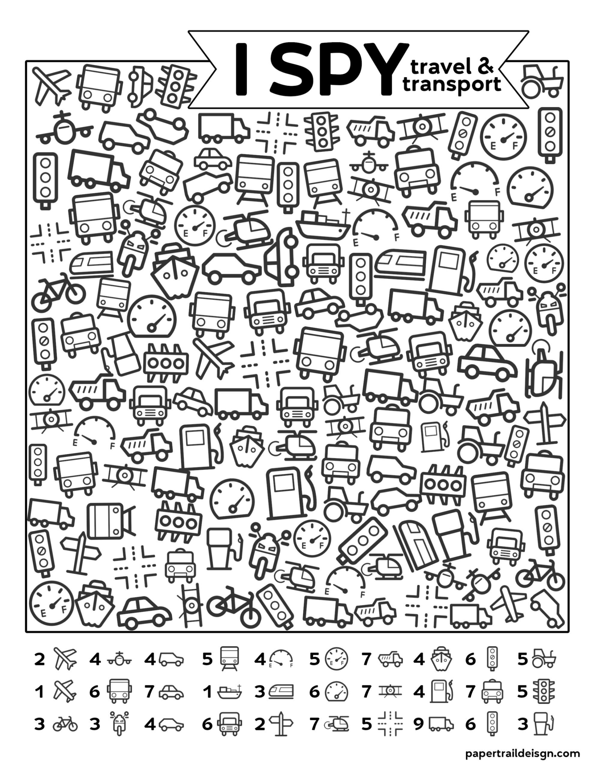 Free Printable I Spy Road Trip Activity Travel