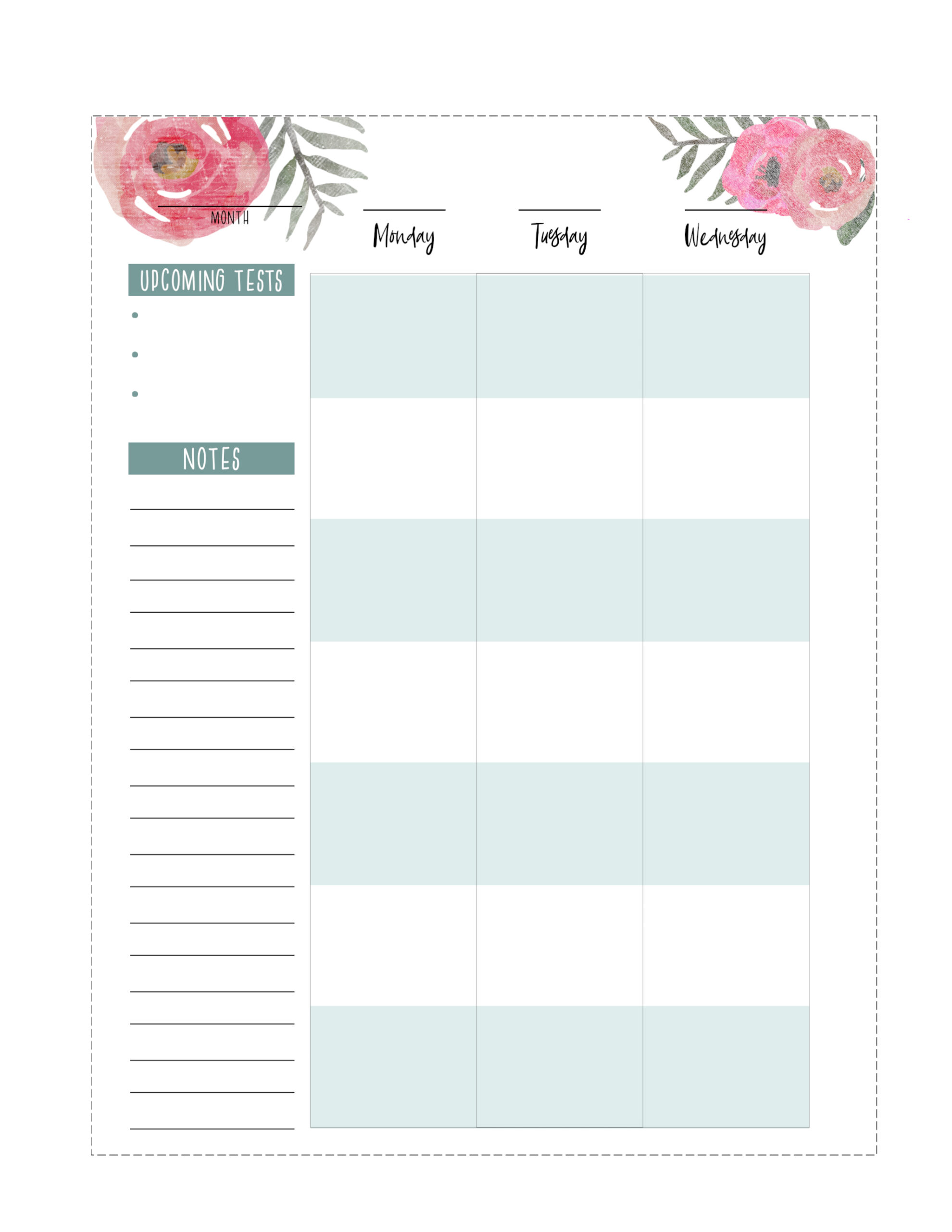 picture about Happy Planner Printable called Totally free Printable Pleased Planner Pupil Internet pages - Paper Path Structure