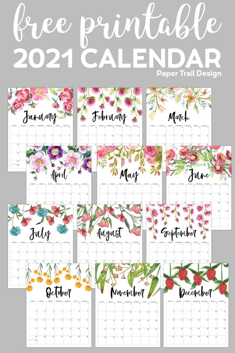 When you purchase through l. Free Printable 2021 Floral Calendar | Paper Trail Design